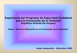 CATEGORÍAS DE PROYECTOS