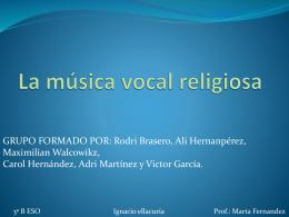 La música vocal religiosa