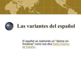 Las variantes del español
