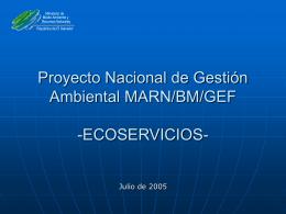 Proyecto Nacional de Gestión Ambiental