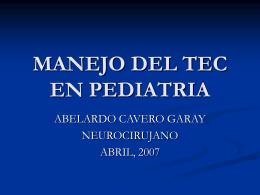 MANEJO DEL TEC EN PEDIATRIA