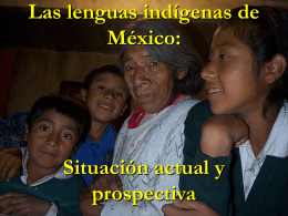 Las lenguas maternas de México