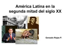 América Latina en la segunda mitad del siglo XX