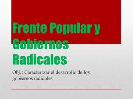 Frente Popular y Gobiernos Radicales