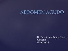 ABDOMEN AGUDO - clasesmedicina
