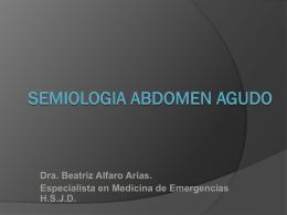 SEMIOLOGIA ABDOMEN AGUDO - Blog 5 Semestre UCIMED