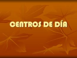 CENTROS DE DÍA