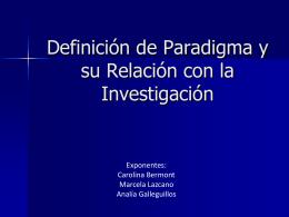 Definición de Paradigma y su Relación con la