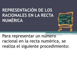 REPRESENTACIÓN DE LOS RACIONALES EN LA RECTA