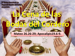 Lección 7 - La Cena de las bodas del Cordero