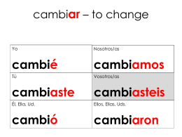 cambiar – to change