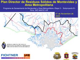 Plan Director de Residuos Sólidos de Montevideo y
