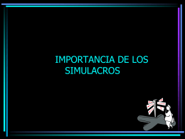Importancia de los simulacros