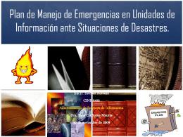 Plan de Manejo de Emergencias en Unidades de