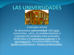 LAS UNIVERSIDADES - Andreajc14`s Blog | Just