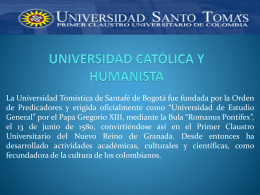 UNIVERSIDAD CATOLICA Y HUMANISTA