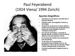Paul Feyerabend (1924 Viena/ 1994 Zurich)