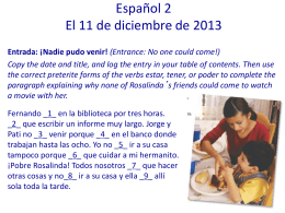 Spanish 1– 8/27 - Judson Independent School