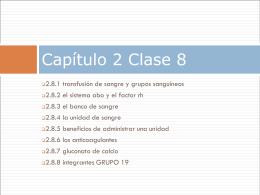 Capitulo II clase número ocho