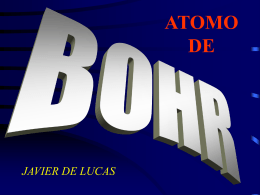 ATOMO DE BOHR - INTEF