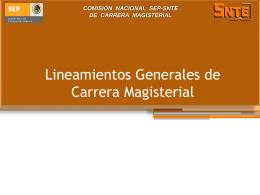 Reforma a los Lineamientos Generales de Carrera