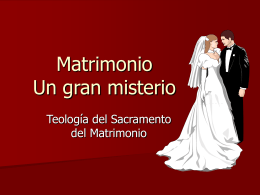 Matrimonio: Un gran misterio