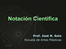 Notación Científica.