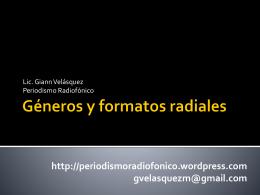 Géneros y formatos radiales