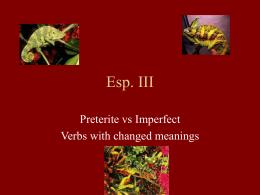 Esp. III