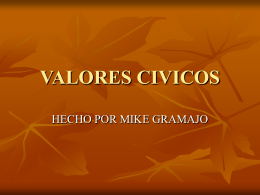 VALORES CIVICOS - mike | Just another