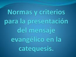 Normas y criterios para la presentación del