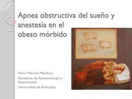 Apnea obstructiva del sueño y anestesia en el