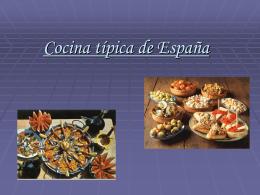 Cocina típica.
