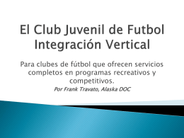 Vertical Soccer Club Setup