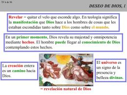 DESEO DE DIOS Y CONSECUENCIAS, 1