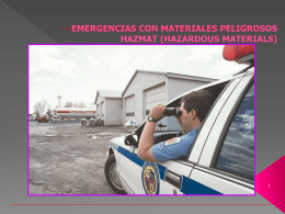 RECONOCIMIENTO DE EMERGENCIAS CON MATERIALES