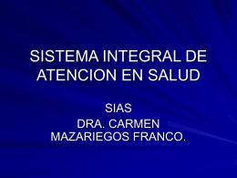 SISTEMA INTEGRAL DE ATENCION EN SALUD