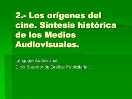 EL CINE. - Lenguaje Audiovisual | Escuela de Arte