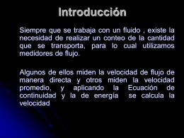 Medidores de flujo - MSc. Alba Veranay Díaz