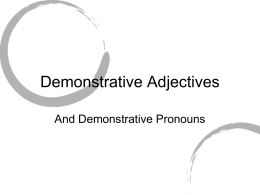 Demonstrative Adjectives - BPS Edublogs Campus |