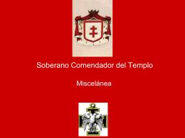 27° Grado – Soberano Comendador del Templo