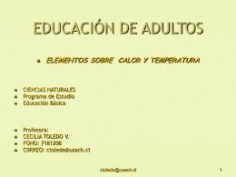 CALOR Y TEMPERATURA - Educación Continua 2007