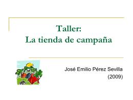 Taller: La tienda de campaña