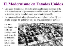 El Modernismo en Estados Unidos
