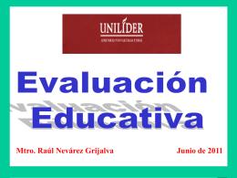 Concepto de Evaluación: Por evaluación se entiende