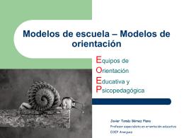 Modelos de escuela – Modelos de orientación