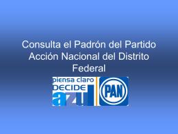Consulta el Padrón del Partido Acción Nacional