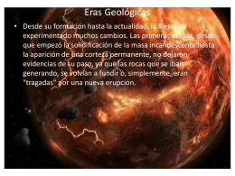 Eras Geológicas - COBACH en línea