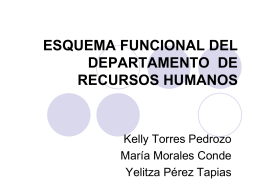 ESQUEMA FUNCIONAL DEL DEPARTAMENTO DE RECURSOS