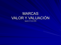 MARCAS VALOR Y VALUACIÒN